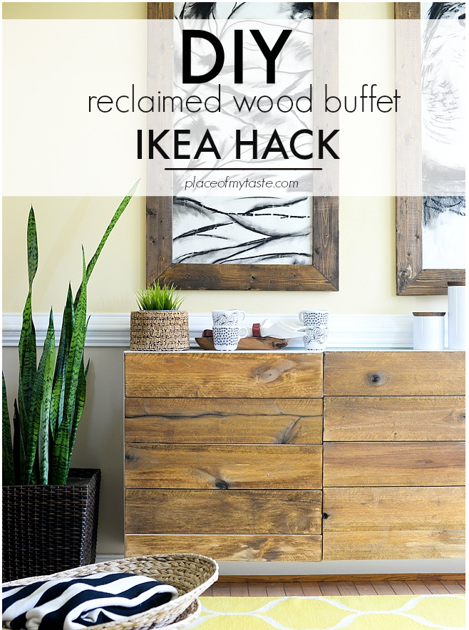 Diy Reclaimed Wood Buffet Ikea Hack Hyman Interiors