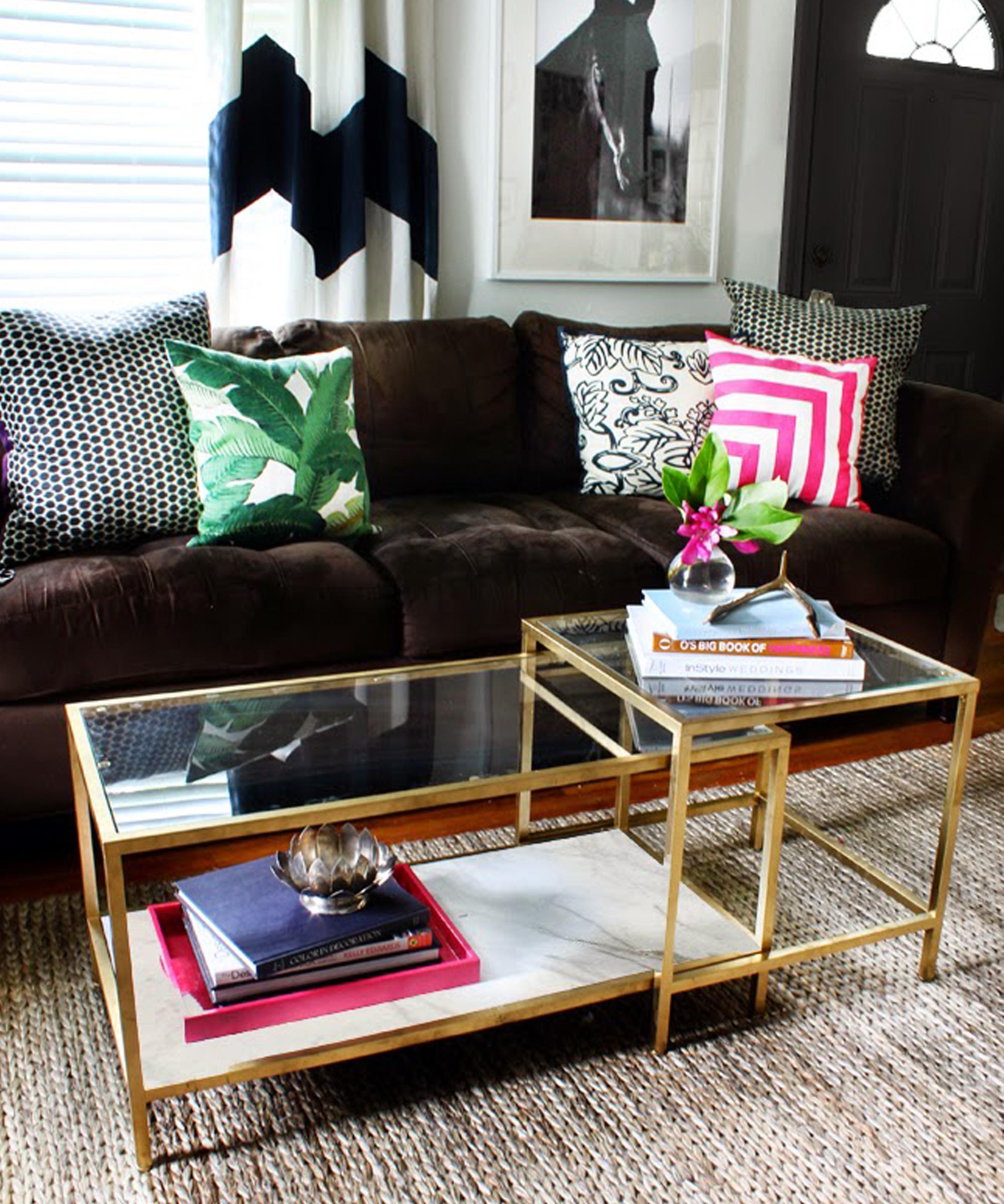 Ikea vittsjo nesting table gold spray paint hyman interiors ikea vittsjo nesting table gold spray paint watchthetrailerfo